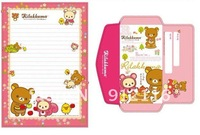 Free shipping Lovely Small Pooh Envelope Writing paper Suit 2envelope+3Writing paper 9colors.