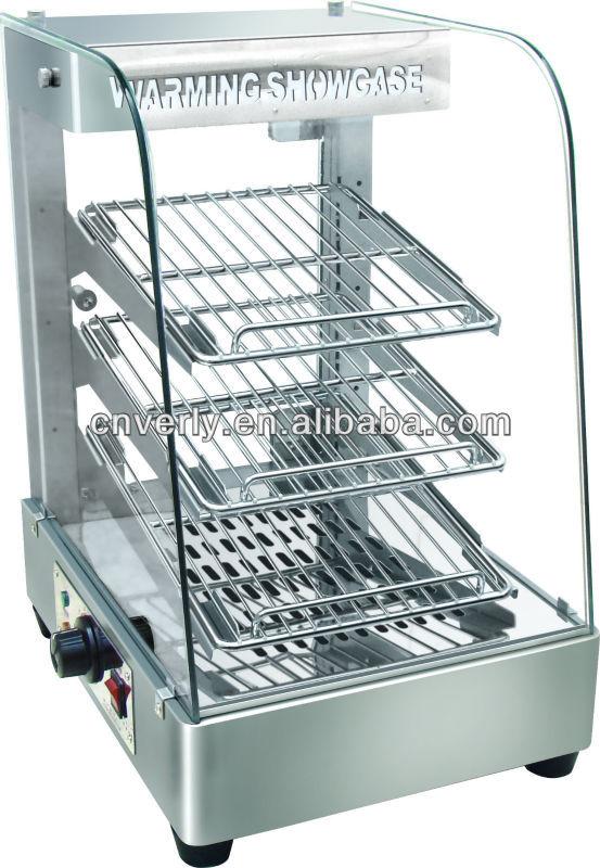 Used Food Warmers ~ Electric heated display showcase hot food warmer kfc