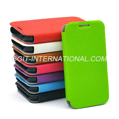 High-end Flip cover case for Samsung S4 mini with stand