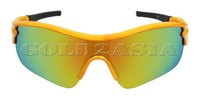 Женские солнцезащитные очки Retails Fit All Sport Cycling Running Camping Hiking Yellow Frame Multicolor Lens UV400 Protection Safely Sunglasses MENS WOMENS