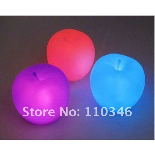 Free Shipping Changed 7-Colors Apple lamp( Special for christmas gift ) Hot selling and high quality