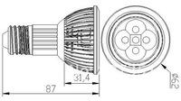 Светодиодный прожектор 20Xpar20 E27 E26 10W 5X2W Bridgelux