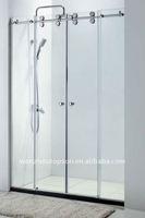 Двери для душевых кабин Flat sliding shower door full set hardware