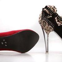 Туфли на высоком каблуке 2012 NEW Sexy Black Rhinestone bow decorationThin high heels shoes Faux suede Pointed Toe women shoes HJY-15