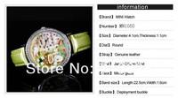Наручные часы MN1050 Hottest Polymer Clay Handmade Genuine Leather Quartz Korea Mini Diamond Soft Ceramic Secret Garden Women's Watch