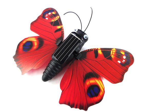 The smallest  design solar energy Butterfly mini  Education Toy free shipping