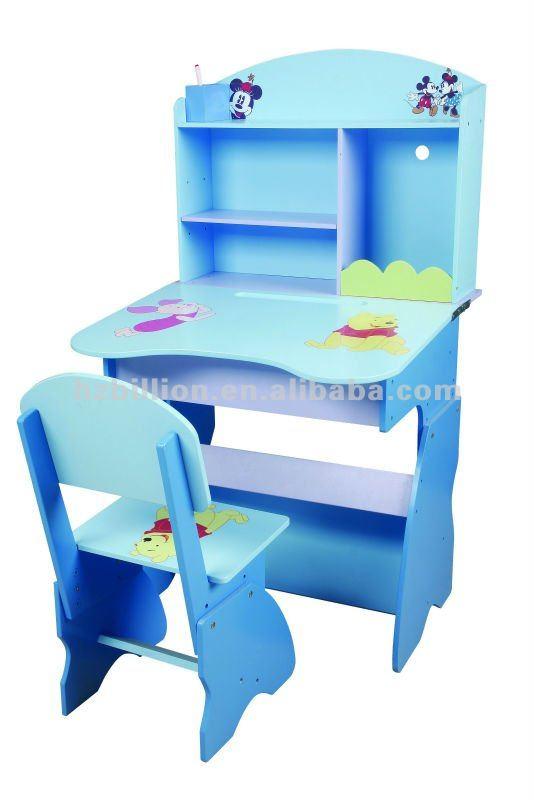 los nios de madera ajustable de aprendizaje escritorio con silla