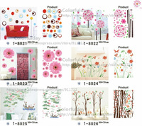 Стикеры для стен Green trees removable wall decor wall stickers vinyl stickers30020