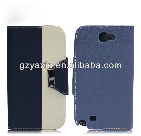 New product! pu leather case for samsung note2 7100