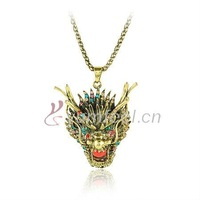 Vintage Necklace Dragon Necklace Mixed Colors