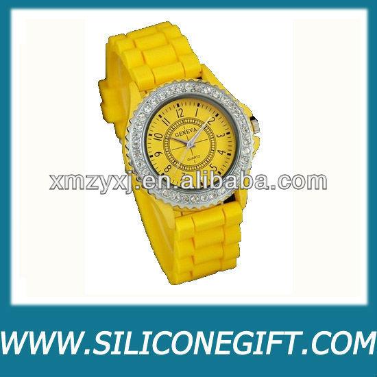Vogue Unique Aqua Leopard Print Silicone Rose Gold Lady Woman Girl Wrist Watch