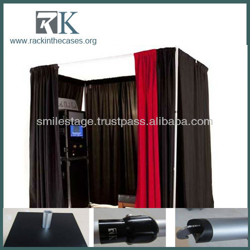 Manufacturing Company Pipe and Drape System for Portable Used Photo Booth for Sale