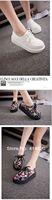 Водонепроницаемые мокасины для женщин Fashion Black Suede British Goth Punk Creepers Flats shoes Lace up Skull Boat Shoes Harajuku platform shoes platform shoes