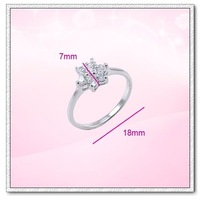 (RW-02) White Gold Plated  Wedding CZ Ring , Free shipping