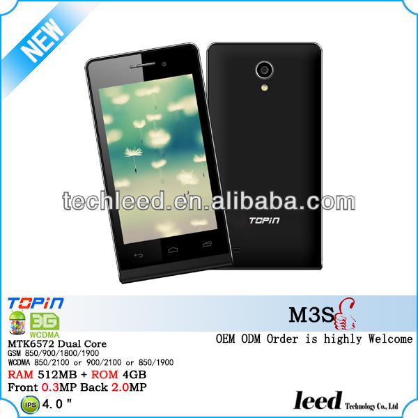 2014 (M3S) 4.0 inch IPS WVGA 512MB RAM 4G ROM 3g mtk China supplier smart phone