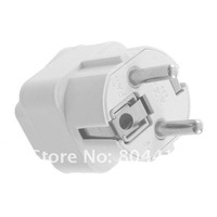 Электрическая вилка 2012 New White Universal AU US UK to EU AC Power Plug Travel Home Converter Adapter