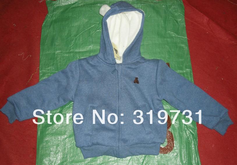 Скидки на Младенцы длинная рукавами зима утолщаются закрытый воротник медведь костюм девочки / мальчики пальто + брюки комплект 3 цвета 5 комплект / много