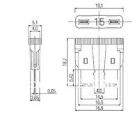 High-current fuse / large blade fuse 32V