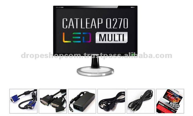 LED Monitor, 27inch, Multi fuction, DVI-D Dual Computer Monitor