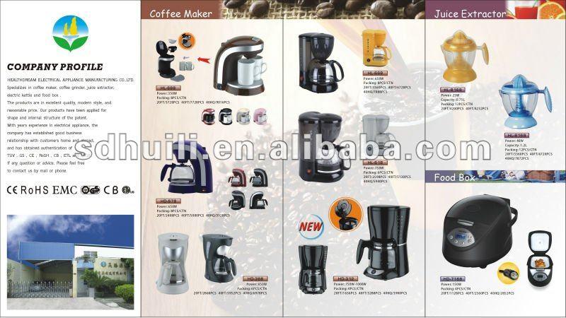 Glass Cup Electric Coffee Pod Machine,HL-638