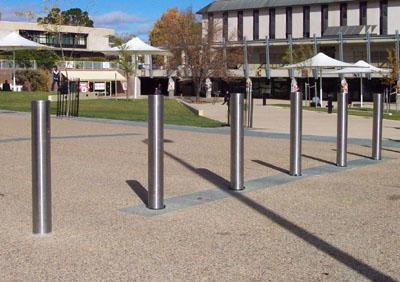 Metal Pole Parking Barricade Image Mag