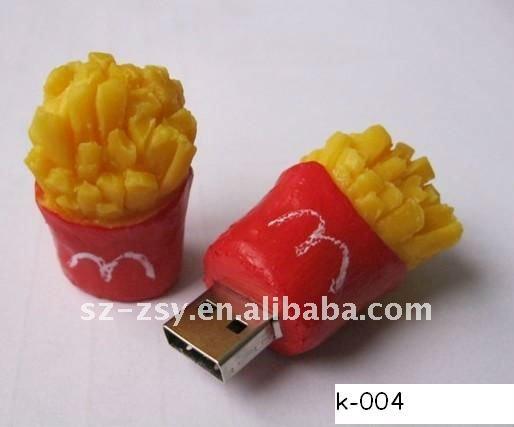 New design!! PVC chicken wing USB