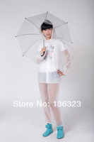 Дождевик Fashion Outdoor Tour Transparent Environmental EVA Adult men women Rainsuit hooded
