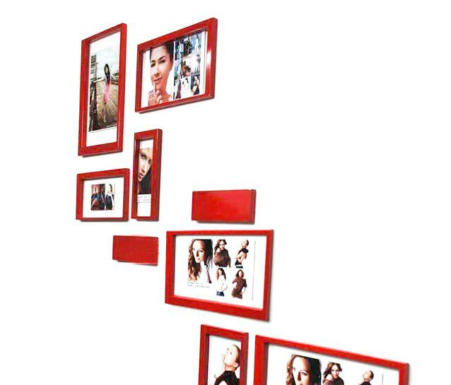 5pcs/lot pvc CPAM Good Quality 3D Wall decoration Sticker .TV TV backgroundwell frame room stickers FREE SHIPPING