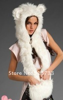 Женская шапка Newest Knitted imitate Rabbit Fur Hat cartoon Colour Handmade Warm hats Factory Sale c0001