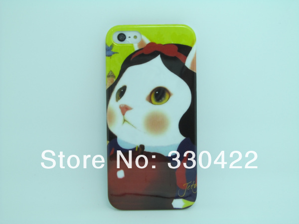 Lovely Cute Cartoon Cat  Winnie Design Plastic Hard Case for Iphone 5G (7).jpg