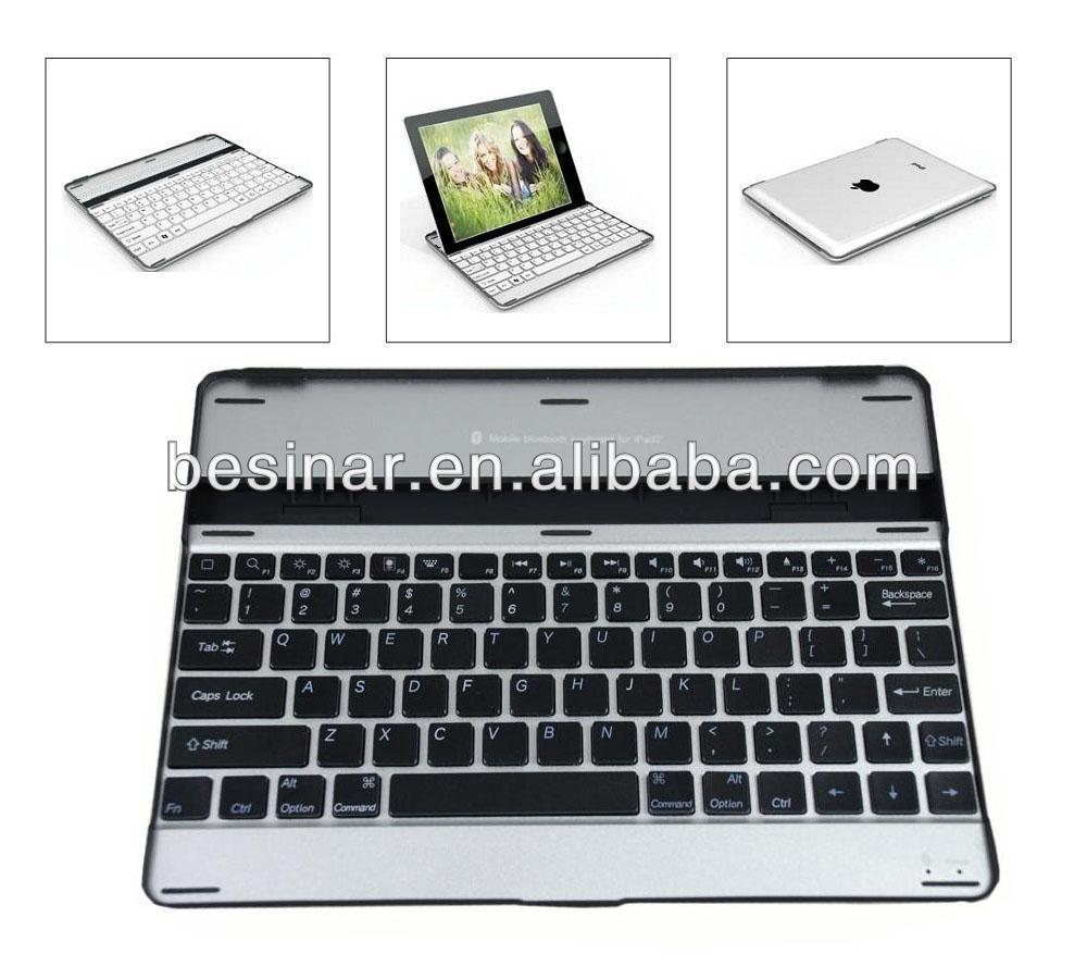 Big discount whoel sale aluminum bluetooth keyboard for iPad 4 Slim Wireless Bluetooth Keyboard Case For iPad 2/3/4