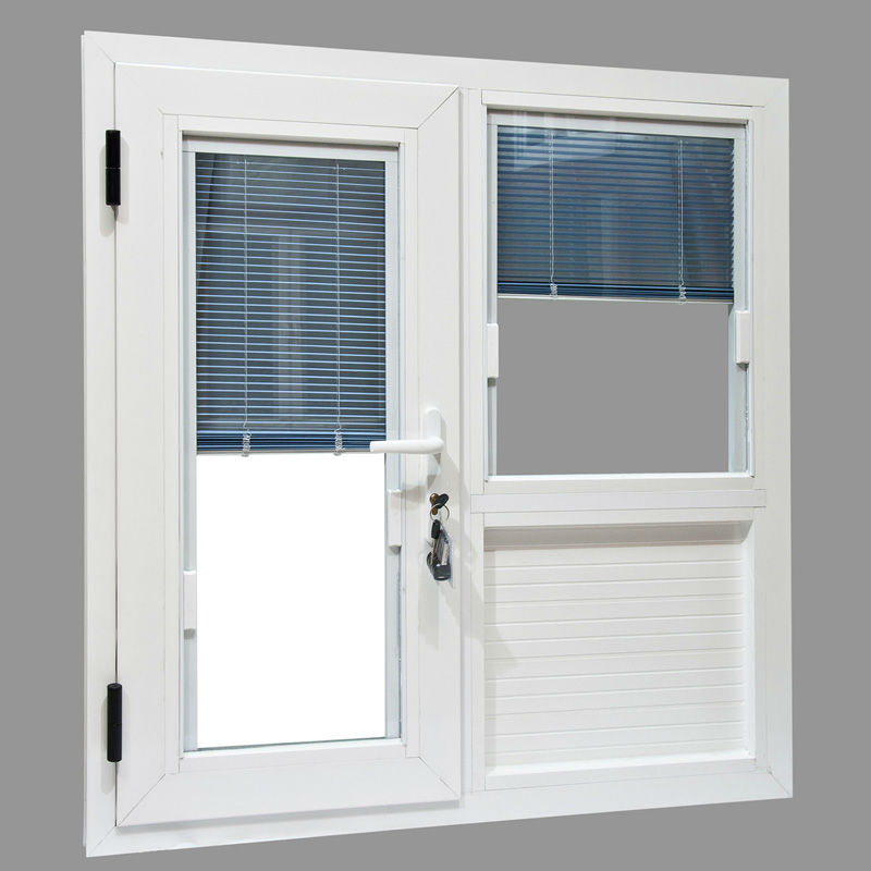 upvc  pvc aluminum windows with built-in blinds with double glass