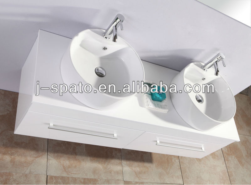 1500mm size double basin hanging wall cabinet
