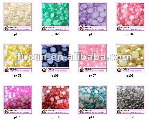 half round pearl beads
