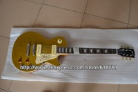 New arrival G Les standard solid body 1957 gold top goldtop VOS electric guitar By EMS get in 5-10 day !! Free shipping