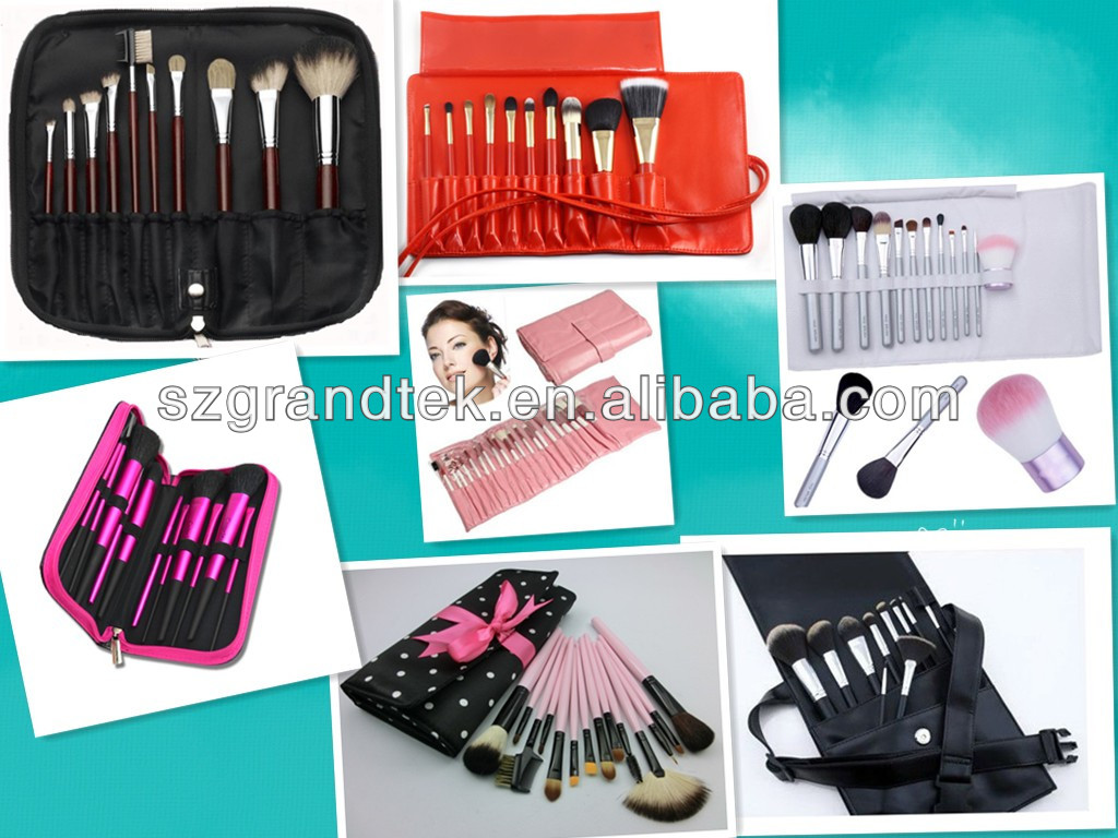 cosmetics bag with brush set