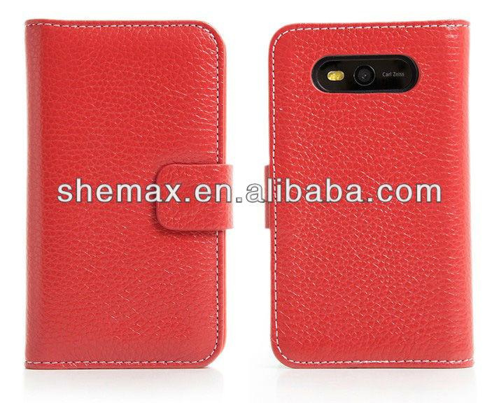 High quality flip handphone covers for Nokia Lumia 820 case PC