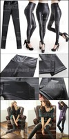 Женские носки и Колготки Fashion Womens Imitation Faux Leather High Waist Leggings Pants Size SML