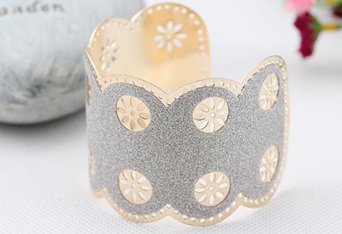 4pcs/lot 2016 European Elegant Lady Style Fashion Lagging Floral Shape Opening Bracelet Paste Layer Cut-out Wrist Strap JY-8457