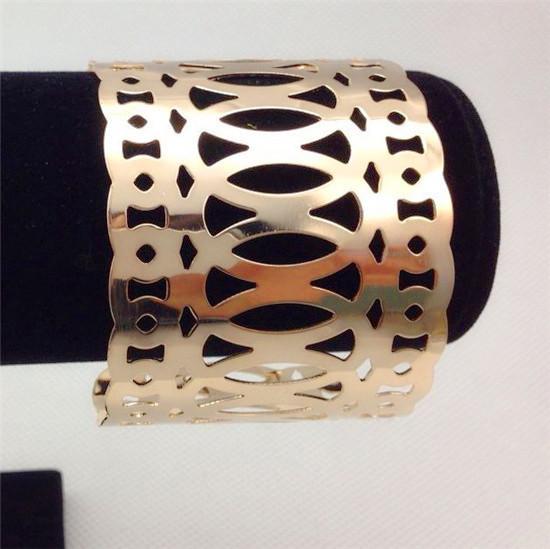 4pcs/lot 2016 Luxury Gold Bracelets Hollow Cricles Open Adjustable Cuff Bracelets Wide Charm Cuff Bracelet for Women JY-8703
