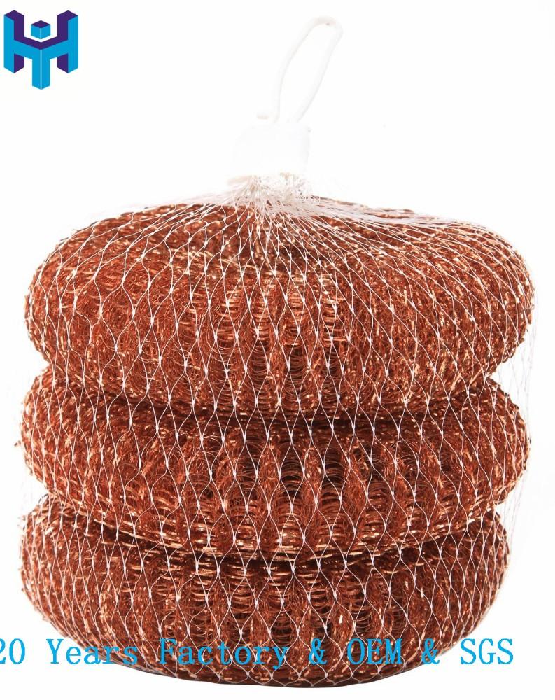 2016 hot koop voor groothandel messing mesh scrubber voor