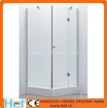 hef sala de baño semi marco de vidrio de la puerta
