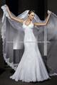 Bainha Appliqued Halter mangas vestidos de noiva 2014 até o chão vestidos de noiva de alta qualidade
