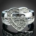 2014 nueva llegada la forma del corazón anillo de diamantes de imitación