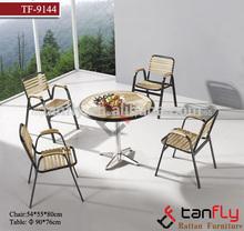 tf-9144 Excelente eninteriores de alta calidad de madera mesa de comedor redonda y 4 sillas