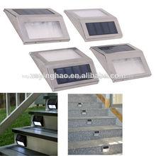 CE & RoHS approuvé en acier stainelss& Étape solaire a mené la lumière, feux d'escalier