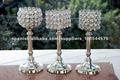 Vetro cristallo piedistallo Candle titolari / CANDLE HOLDERS / HOME DECOR