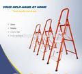 Escada de degraus doméstica de tubos quadrados