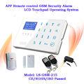 Sistema de alarmas inalámbricas de seguridad GSM con pantalla táctil y zonas monitoreadas para mayores con controles de llamadas o SMS