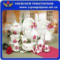 56 piezas de vajilla de porcelana fina con impresiones